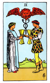 Tarot Cards About Love two is a number of polarity