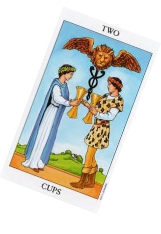 Tarot Cards For Love couple 2 cups