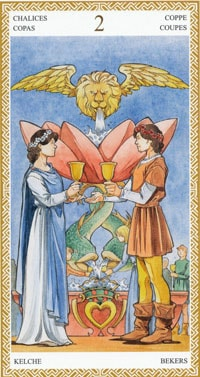 Tarot Cards About Love 2 cups love tarot