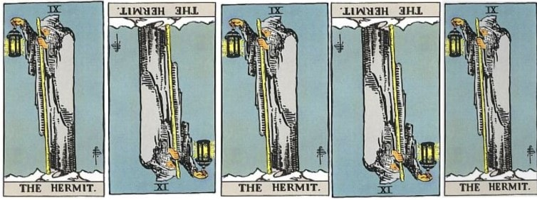 Love Tarot and The Hermit Card