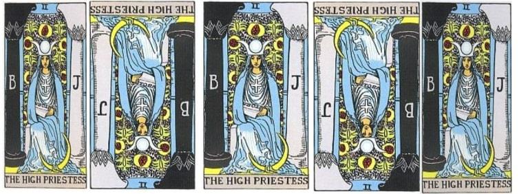 high priestess love tarot card