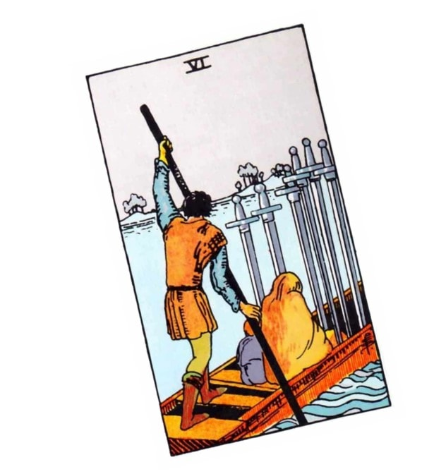 Love Tarot and the six of swords card