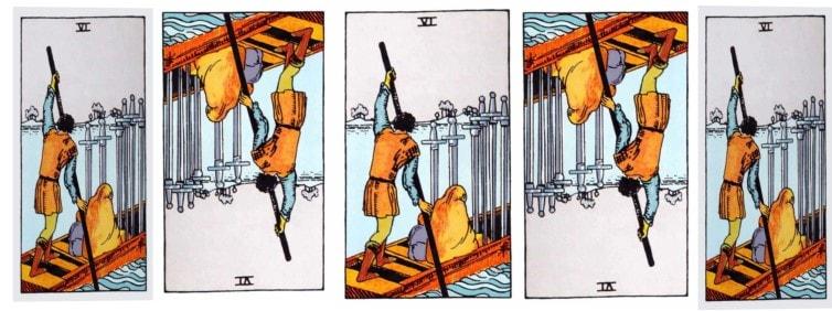 six of swords love tarot cards