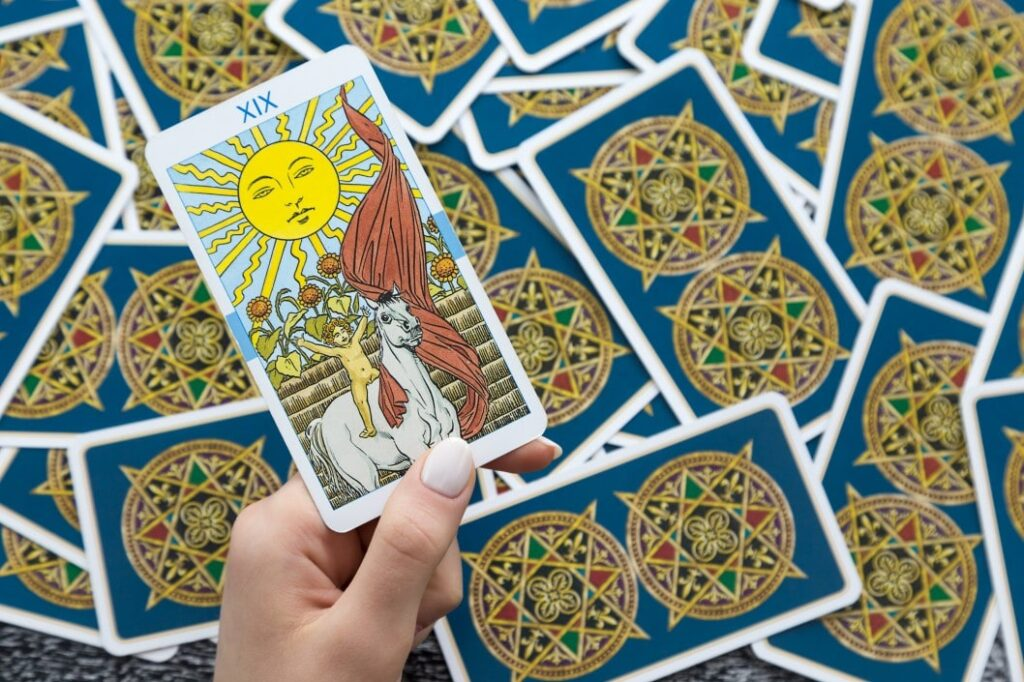 Love Tarot Card Reading sun card