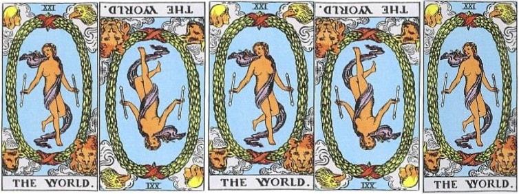 Love Tarot and The World Card
