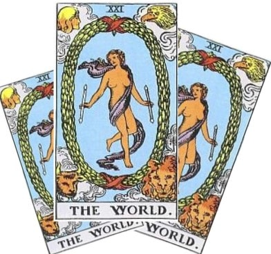Love Tarot and The World Card